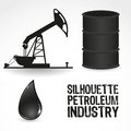 Icons in the oil industry Royalty Free Stock Photo