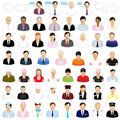Icons Of People. Vector Royalty Free Stock Image