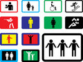 Icons. Pictographs of people Stock Images