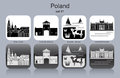 Icons of Poland Royalty Free Stock Photo