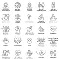 Icons psychological features of human personality. Royalty Free Stock Photo
