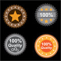 Icons quality set of buttons and for developers of sites Stock Image