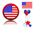 Icons related to American patriotism Royalty Free Stock Photo