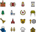 Icons related to russia collection of different Stock Photography