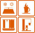 Icons for rest road hotel signs set isolated objects with Stock Image