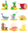 Icons for restaurant menu Royalty Free Stock Photos