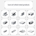 Icons of rolled metal products
