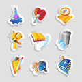 Icons science education medicine vector illustration Royalty Free Stock Photography