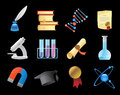 Icons for science and education vector illustration Royalty Free Stock Images