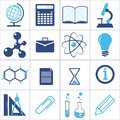 Icons of a science and education vector set eps Stock Photos