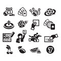 Icons set authors illustration in Stock Image