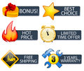 Icons set banners with for online shop Royalty Free Stock Image