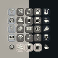 Icons set bar of for breakfast themes Stock Photography