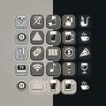 Icons set bar Royalty Free Stock Photo
