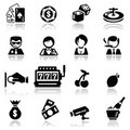 Icons set Casino Stock Photography
