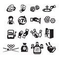 Icons set casino authors illustration in vector Stock Photography