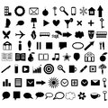 Icons set collection various shapes and themes Stock Photography
