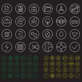 Icons set. Color round building communication icons. Icons construction and repair.