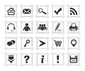 Icons set with decor Stock Photos