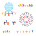 Icons set of family and relations eps vector illustration Royalty Free Stock Image