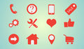 Icons set fow internet. Royalty Free Stock Photo