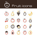 Icons set fruits the modern vector eps Stock Photos