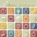 Icons set fruits the modern vector eps Stock Photography