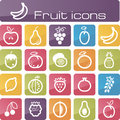 Icons set fruits the modern vector eps Royalty Free Stock Images