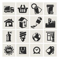 Icons set furniture in a icon in the vector illustration Royalty Free Stock Image