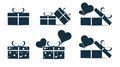 Icons set of gift boxes.Vector Royalty Free Stock Photo