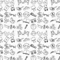 Icons set kinder garten