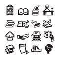 Icons set library author s illustration in Royalty Free Stock Photo