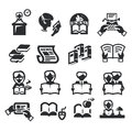 Icons set literature author s illustration in Royalty Free Stock Photography