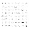 Icons set over white background vector illustration Stock Photos