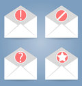 Icons set pieces can be used in web interfaces mobile ui mail with different status Stock Photo