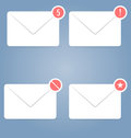 Icons set pieces can be used in web interfaces mobile ui mail with different status Stock Photography