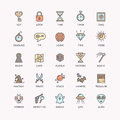 The icons set for the quest room. Royalty Free Stock Photo