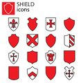 Icons set - Shields vector Royalty Free Stock Photo