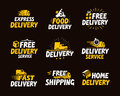 Icons set shipping and delivery. Vector illustration