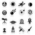 Icons set space Stock Photo