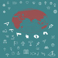 Icons set travel Royalty Free Stock Photo