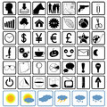 Icons set vector illustration can be scaled to any size without loss of resolution Royalty Free Stock Image