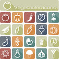 Icons set vegetables the modern vector eps Royalty Free Stock Image