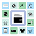Icons shopping set for use Royalty Free Stock Image