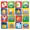 Icons sixteen colored for devices and web Stock Photo