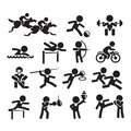 Icons sport authors illustration in vector Royalty Free Stock Photo