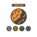 Icons sport colorful design vector line black on white backgroun Royalty Free Stock Photo