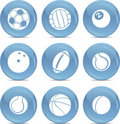 Icons sports balls in vector Stock Images