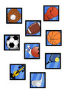 Icons sports creative design of Royalty Free Stock Photo