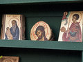 Icons stall view of a icon from a church Royalty Free Stock Image